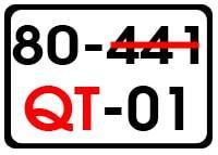 Bien so xe QT lead