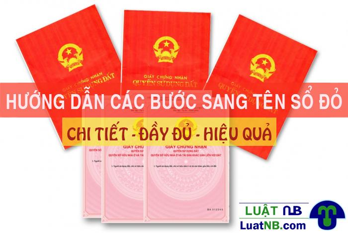 huong dan thu tuc sang ten so do