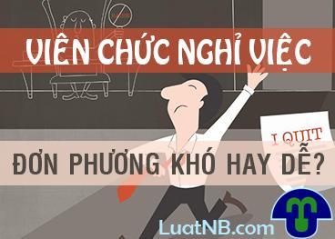 vien chuc nghi viec don phuong